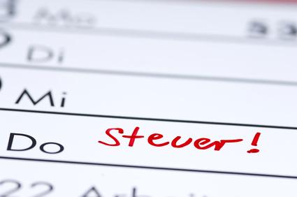Steuer - Eintrag im Kalender