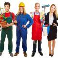 Werbung für Arbeitsagentur mit Leuten aus vielen verschiedenen Berufe